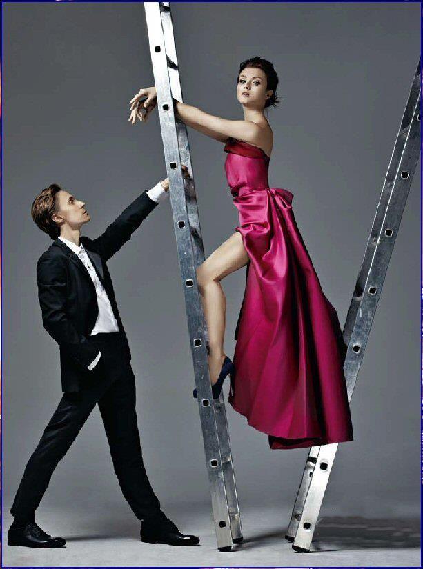 Irina Dvorovenko photo shoot for Harper's Bazaar