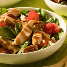 Chicken and Strawberry Spinach Salad | recipes | Pinterest