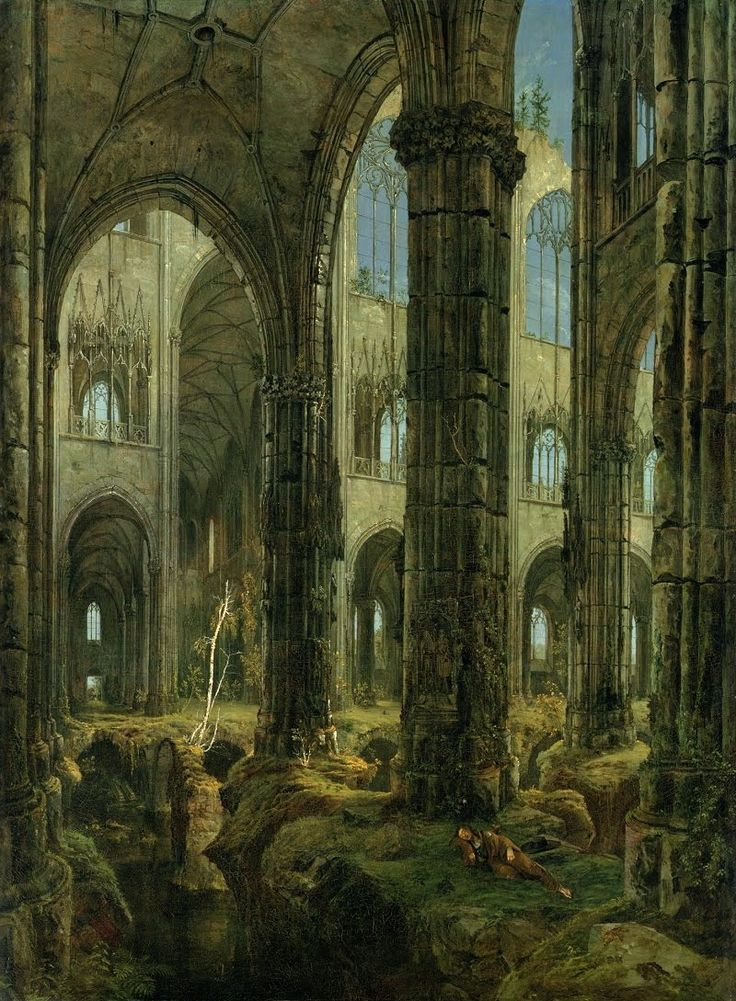 (Illustration is Carl Blechen, Ruins of a Gothic Church, 1826.)