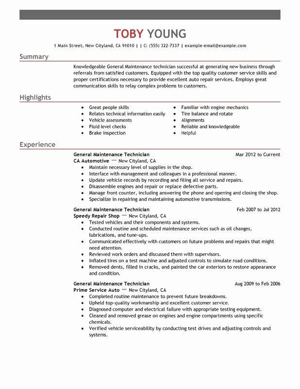Maintenance Resume Template Resume Templates Sample Resume Templates Resume Template
