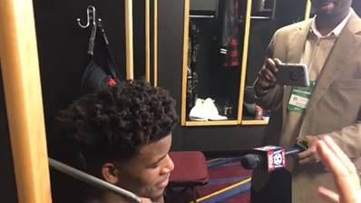 Jimmy Butler live from the locker room