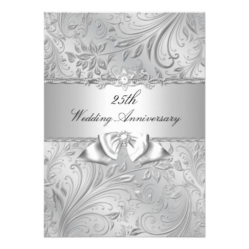 25th Wedding Anniversary Invitations: 17 Best Images About Anniversary Invitations On Pinterest