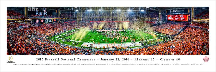 2016 CFP Panoramic Picture - College Football Playoff Championship Poster - Unframed $34.95