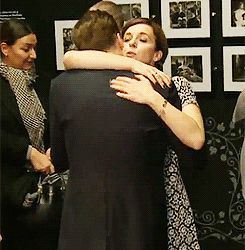 Amanda Abbington and Benedict Cumberbatch. She looks like a mother telling her little boy that everything is going to be okay. I suppose that reflects their characters pretty well.