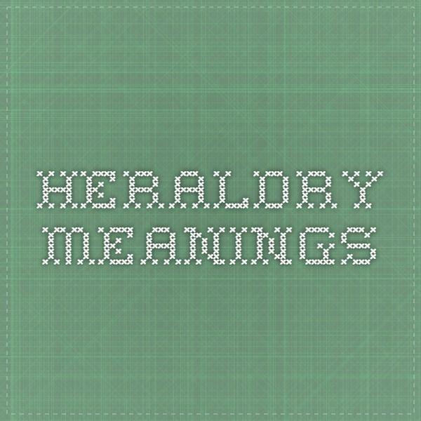 heraldry meanings