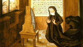 Hildegard of Bingen's Alleluia, O virga mediatrix and Notre Dame Cathedral's Gaude Maria virgo