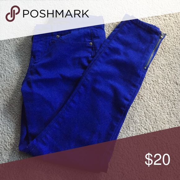 Electric Blue Pants These make a great statement and are curve-flattering! Forever 21 Jeans Skinny