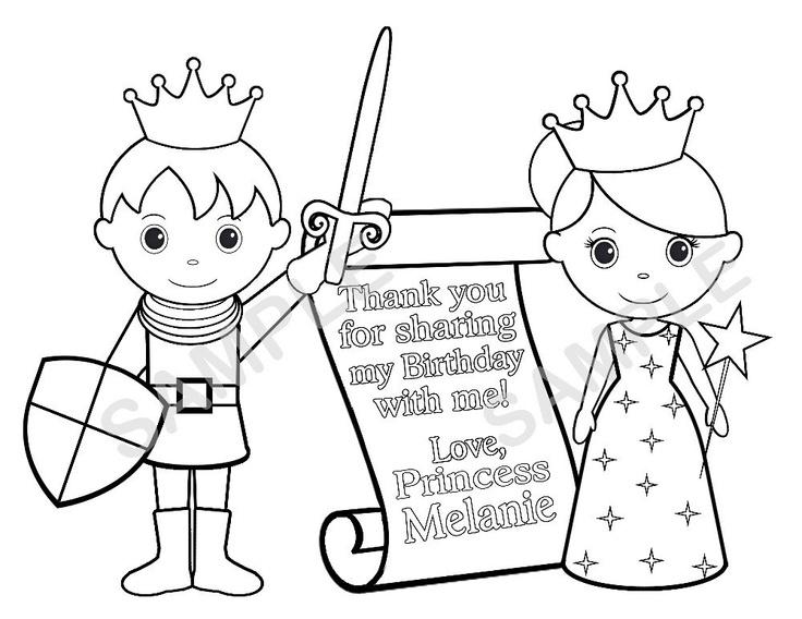 Personalized Printable Princess Prince Knight by SugarPieStudio, $2.00