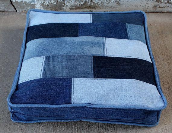 Denim Dog Bed Duvet with Hardwood Floor Inspired door AllintheJeans