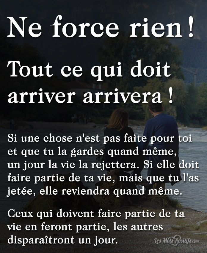 Citation Tout ce qui doit arriver arrivera ! #citation #citationdujour #proverbe #quote #frenchquote #pensées #phrases #french #français