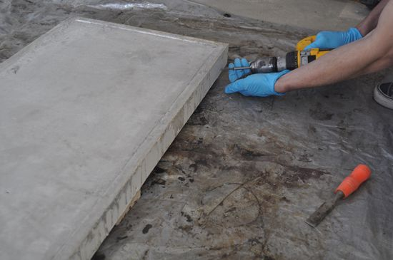 Pete shows how to build beautiful concrete table tops that look great, are cheap to make, and don't require any specialty tools.