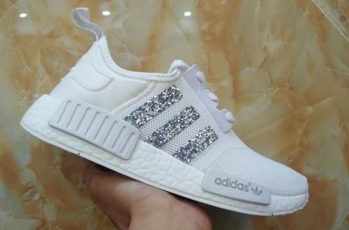 aa32ba216ad8e Adidas Originals NMD PK All White Glitter Sneakers | Sneakers ...