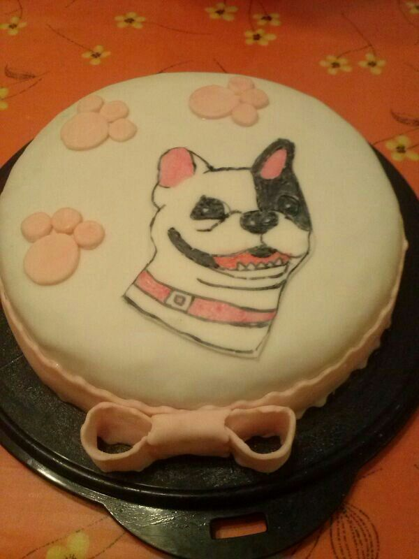 Torta Bulldog francese