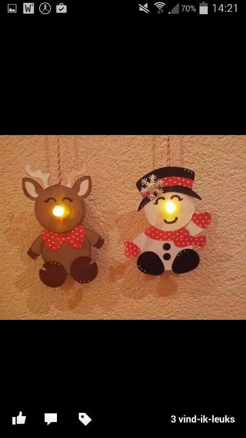 Lampje voor sneeuwpop