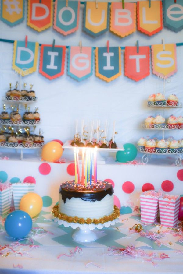 Doubledigits A 10th Birthday Party Jamies Double Digits Birthday Omg Pinterest Birthday 10th Birthday Parties And 10th Birthday