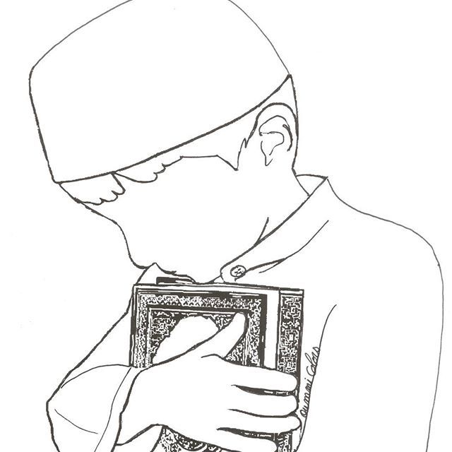 coloring pages for big lil muslims
