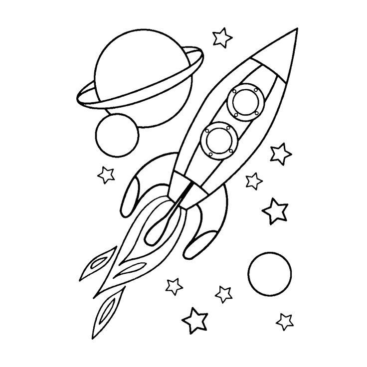 leuk voor kleurplaateen raket in de ruimte in 2020