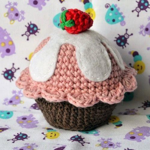 Patrón Cupcake amigurumi