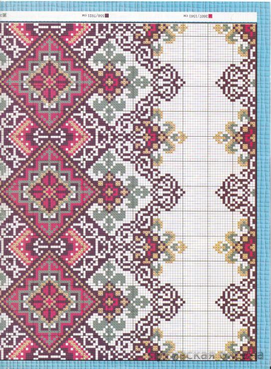 Beading _ Pattern - Motif / Earrings / Band ___ Square Sttich or Bead Loomwork ___ Gallery.ru / Фото #37 - рушники 7 - pytuvskaja