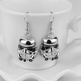 Silver Stormtrooper Earrings