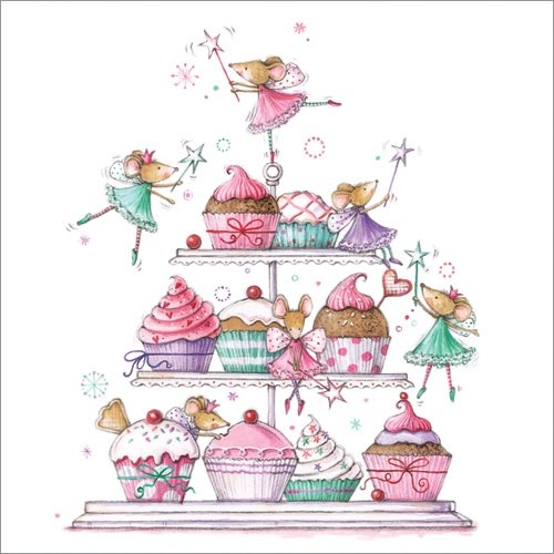 Very cute Fairy Mice greetings card - £1.75.  Follow the link and look out for matching gift wrap, tag, gift card and thank you postcards.
