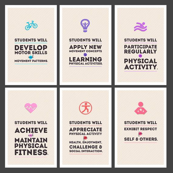 Physical Education National Standards by IllustriousStudio on Etsy, $30.00