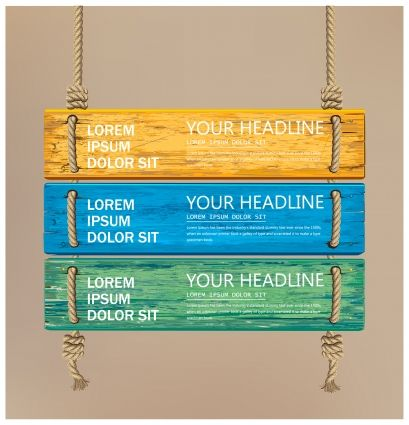 signboard colorful wooden plank