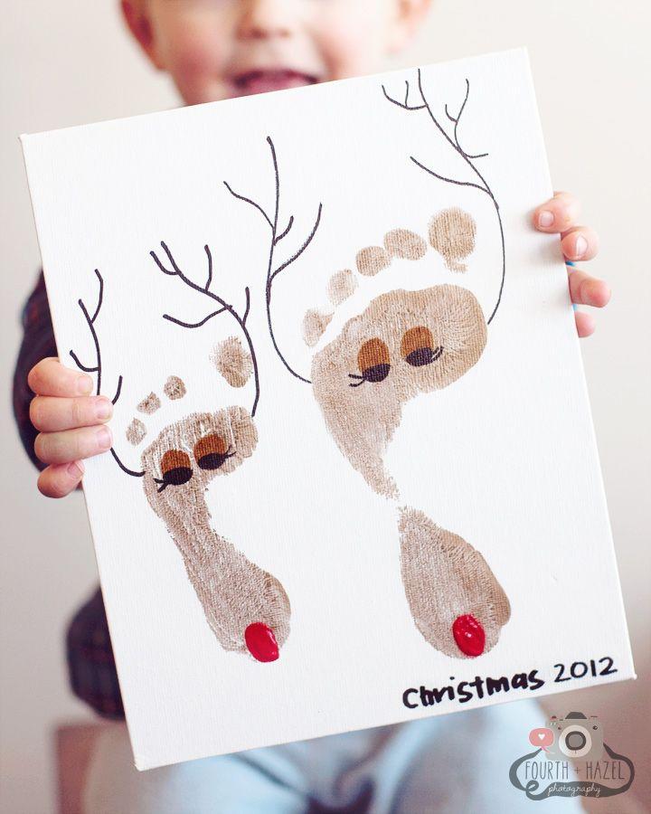reindeer footprint craft for kids #keepsake