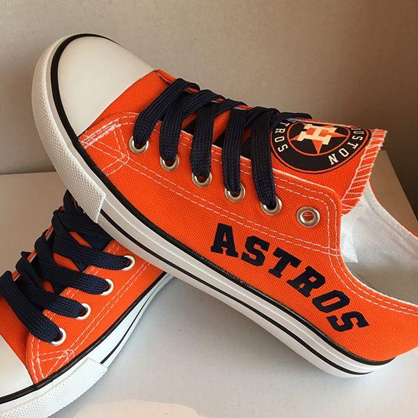 Houston Astros Canvas Sneakers - http://cutesportsfan.com/houston-astros-designed-sneakers/