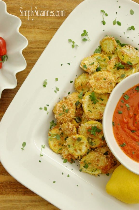 Simply Suzanne's AT HOME: baked yellow squash rounds . . . a Summer hors d'oeuvre