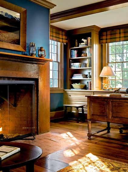 traditional home office by crisp architects my style rustic traditional arts and craft - Traditional Home Office