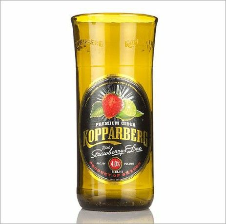 Who's Glass Novelty Handmade in UK Recycled Kopparberg Cider Pint Beer Glass - Single