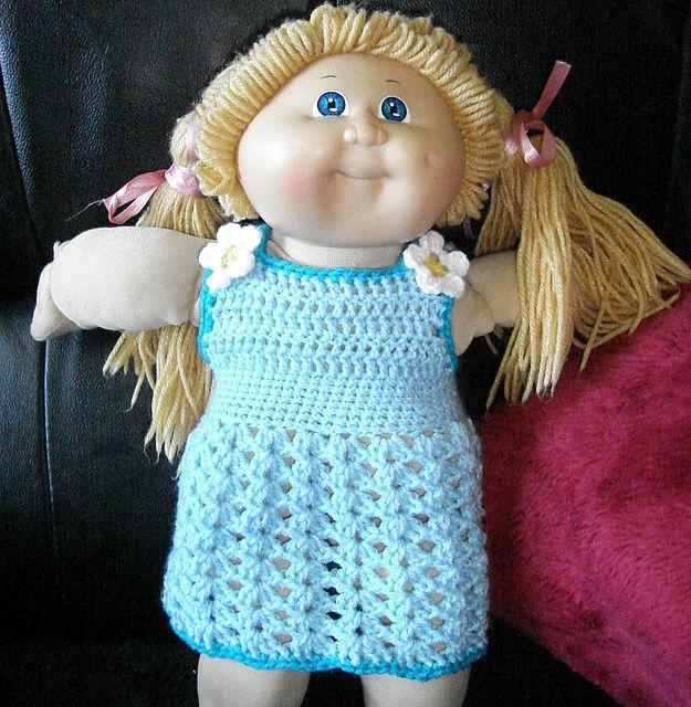 "Ravelry: 15""-18"" Dolls V Strap Dress pattern by Janis Cleghorn"