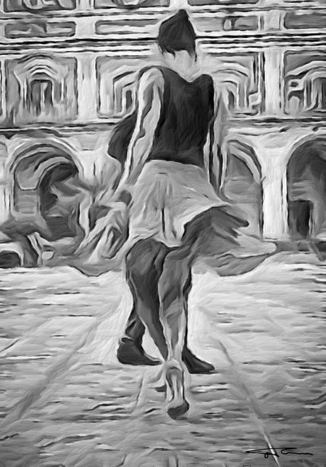 Name: Breathe your coffee, sip your dance Author: Erik Teodoru ID number: 110 Year: 2017 Software Tool: Gimp 2.8.20   Model: Al Original Source Image: Facebook photo