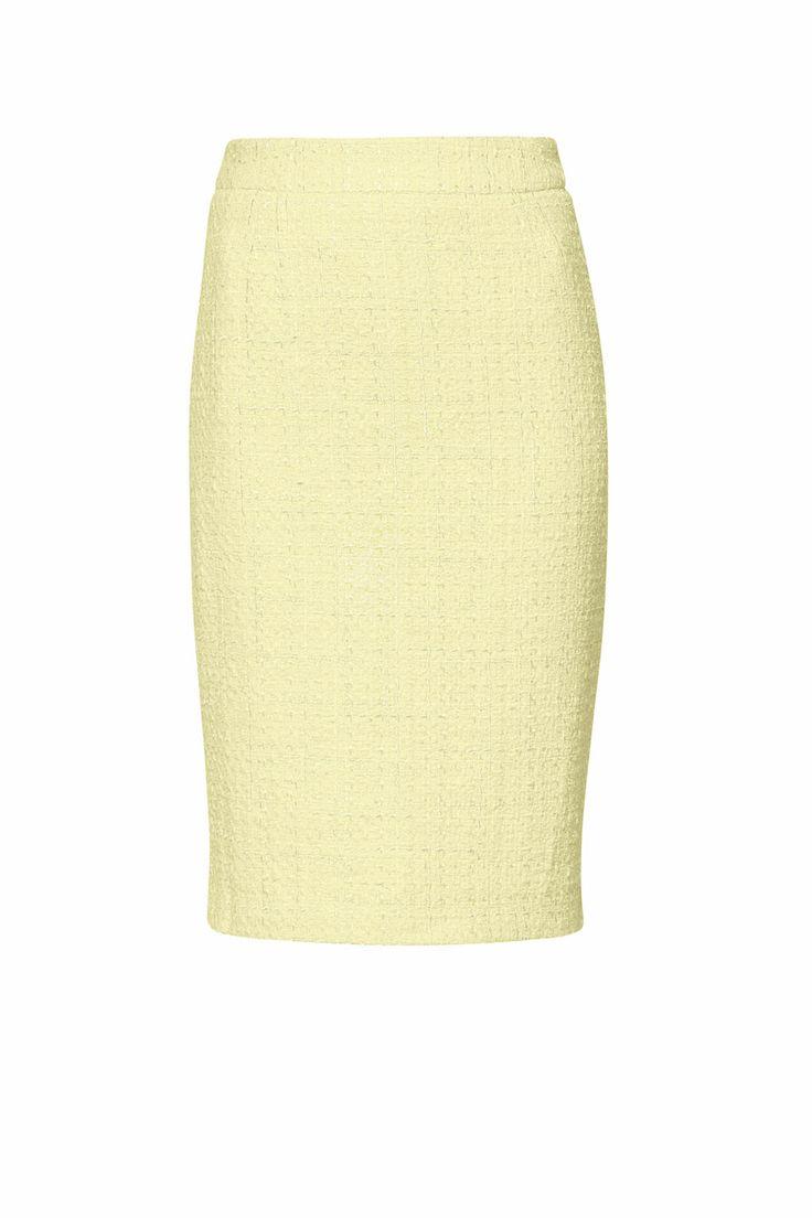 Żółta ołówkowa spódnica ARYTON wiosna-lato 2014