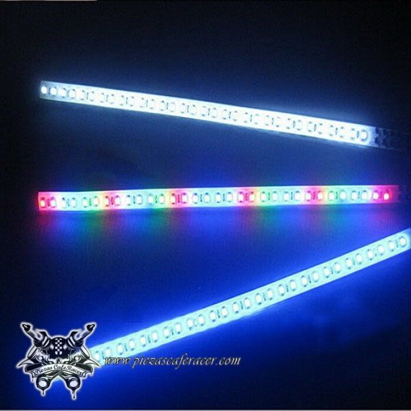6,01€ - ENVÍO GRATIS - 2X Tira de Luces LED Adhesiva Impermeable Luces Freno / Intermitentes DC 12V SMD LEDs Color Azul