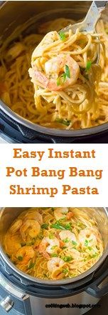 #VeryAwesomeFood >>> Easy Instant Pot Bang Bang Shrimp Pasta – ~08~ Web cooking   – Instant Pot