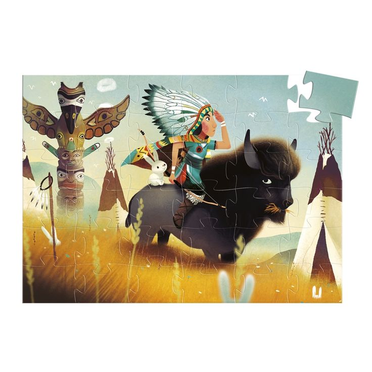 Tatanka formadobozos puzzle 36 db-os Djeco