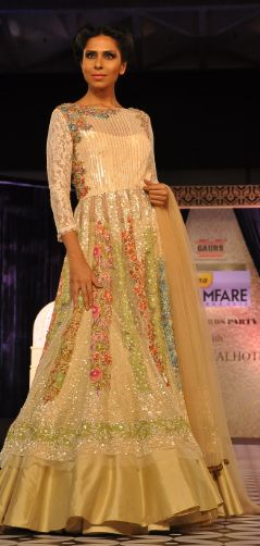 #Sequin #Gown from Manish Malhotra's Luxe Collection 2014. Available at his flagship store in Mumabi  Delhi.