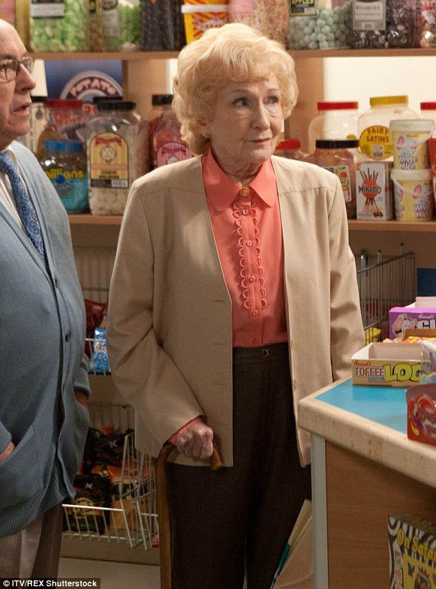TV legend: Eileen Derbyshire, who plays Coronation Street favourite Emily Bishop, is belie...