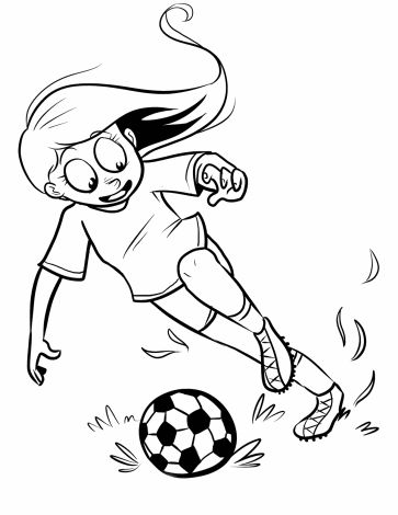 Soccer Player Coloring Pages For Kids Color The Picture Of A Or Browse Many Other Types Our Free Online