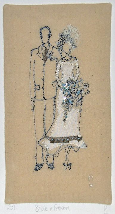 beautiful free hand embroidery design by Michelle Holmes