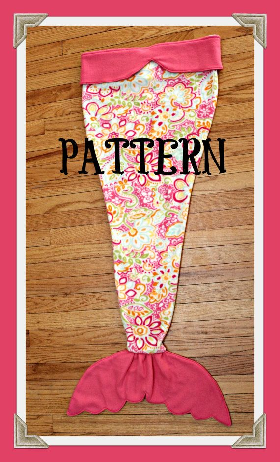 PDF - TUTORIAL - PATTERN -Mermaid Tail Blanket - Fleece - Sewing Pattern