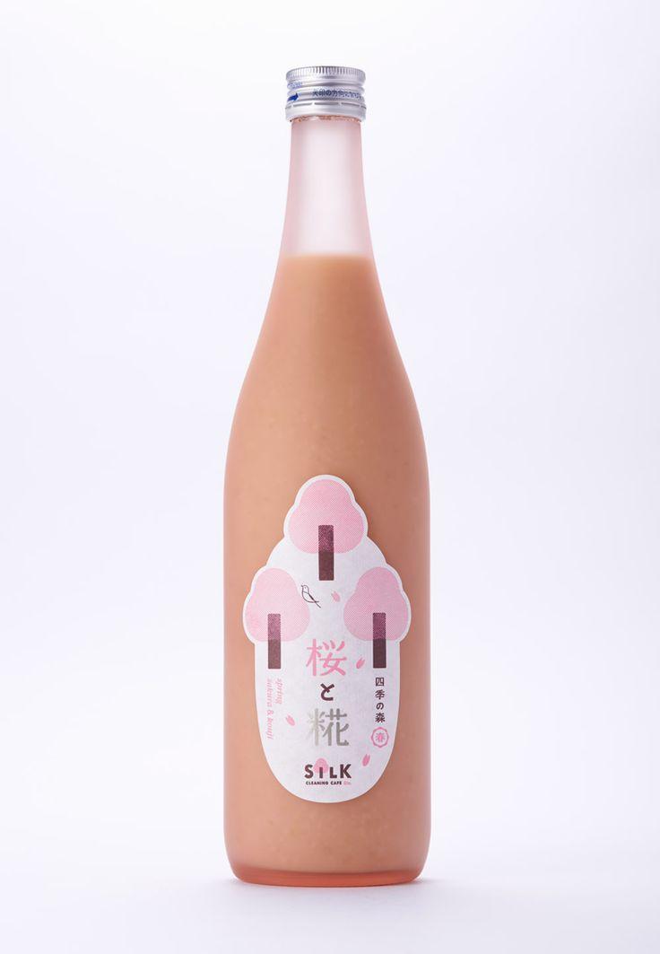 四季の森 桜と糀(2014)糀飲料のパッケージ