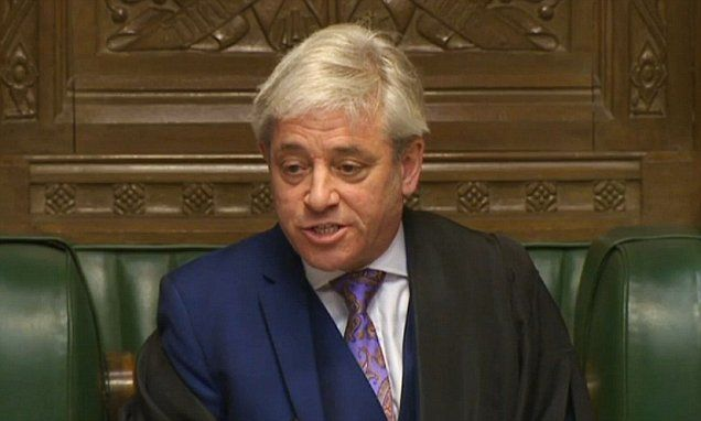 John Bercow faces motion of no confidence vote by MPs #DailyMail