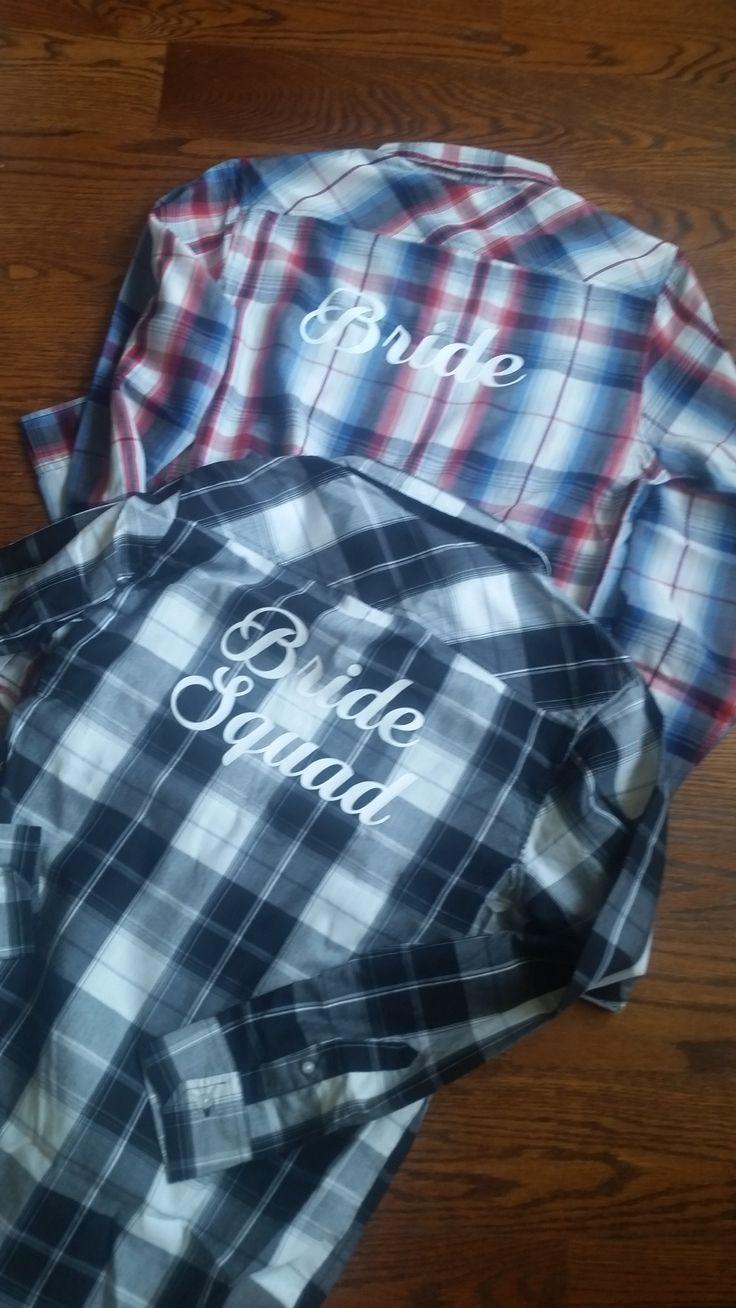 custom western plaid #shirts for #bridal party
