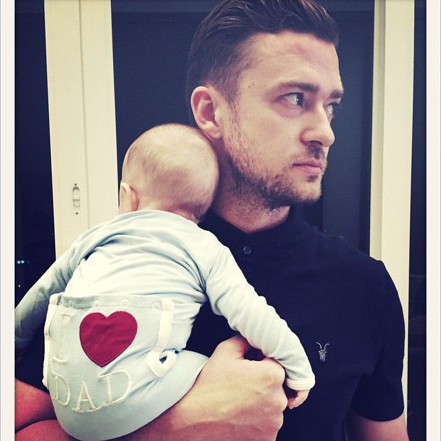Pin for Later: The Cutest Snaps of the Cutest Celebrity Dads in Hollywood Justin Timberlake and Silas