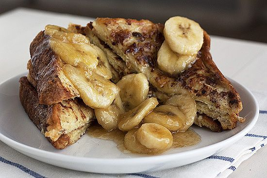 Bananas Foster French Toast -