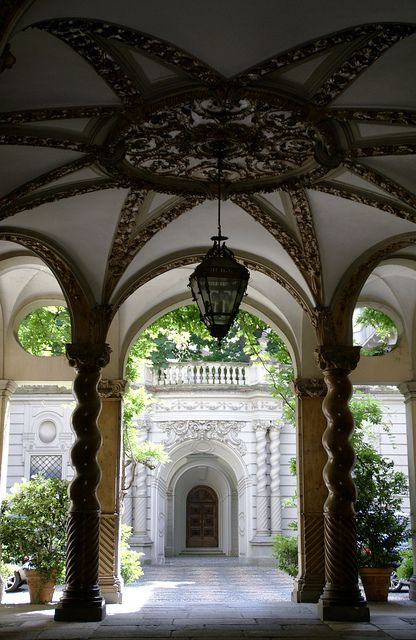 Torino, Via Maria Vittoria--Androne di Palazzo Carpano, province of Turin , Piemonte region Italy .
