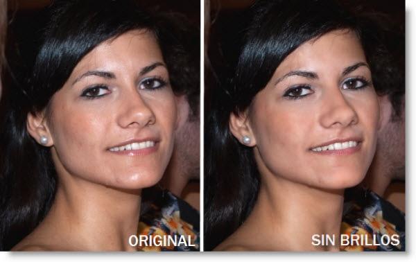 Elimina los Brillos de la Cara